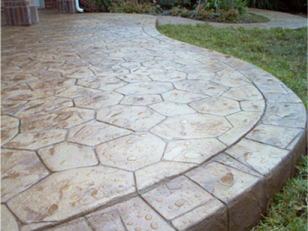 decorative Stamped Concrete Patio Raleigh NC