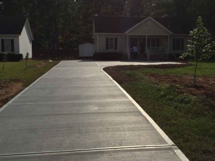 Concrete Paved Driveway, New Driveway in North Carolina