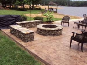 Stamped outdoor concrete