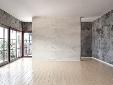 Concrete basement