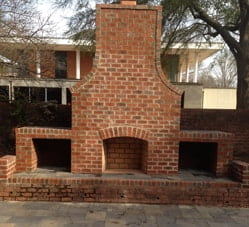 Custom brick fireplace