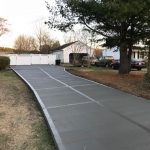 Concrete driveway in Raleigh