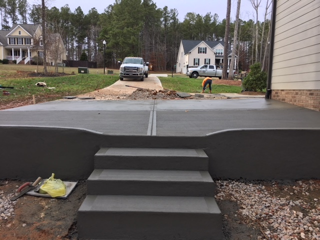 Custom Concrete sidewalk