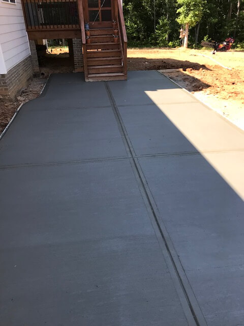 Completed Concrete sidewalk