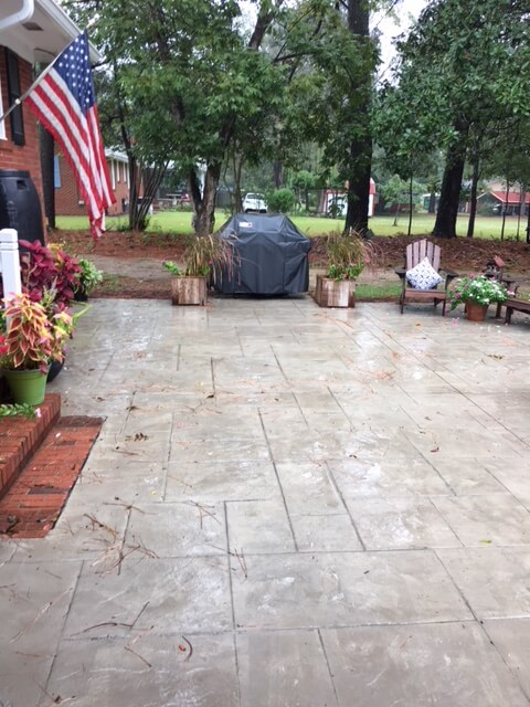 Stamped patio 2